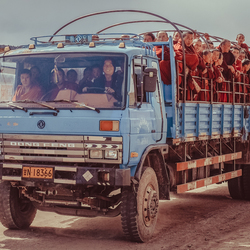 How many monks fit in a truck?
