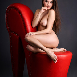 red shoe