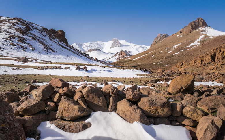 Siroua - De beklimming van de hoogste berg in het Jebel Siroua berggebied, de Siroua (3300m). Dit zou ons hoogtepunt moeten worden. Helaas is dat niet