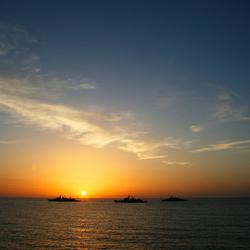 Zonsopkomst op de Atlantische oceaan