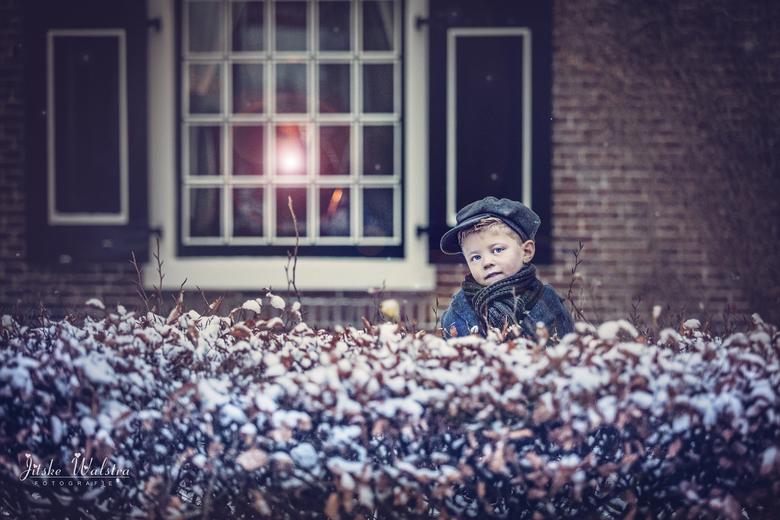 Sneeuw! - Ja ja, vanochtend ook sneeuw in Friesland. We moesten er natuurlijk vroeg op uit. En aangezien we al om 6 uur wakker waren....