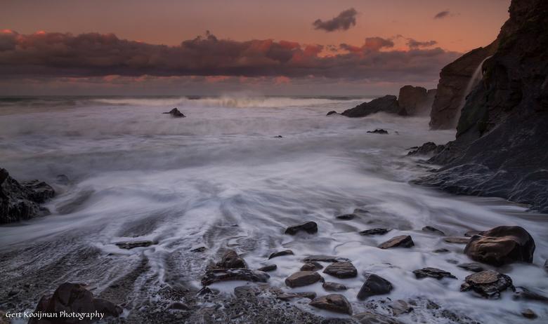 Sandy Mouth Cornwall UK
