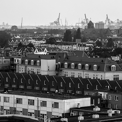 Uitzicht over vanaf Groothandelsgebouw in Rotterdam