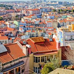 Lissabon vanaf uitkijkpunt Miradouro do Monte Agudo