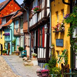 Mooi historische stadje Quedlinburg