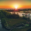 Zonsondergang bij het Zuidlaardermeer