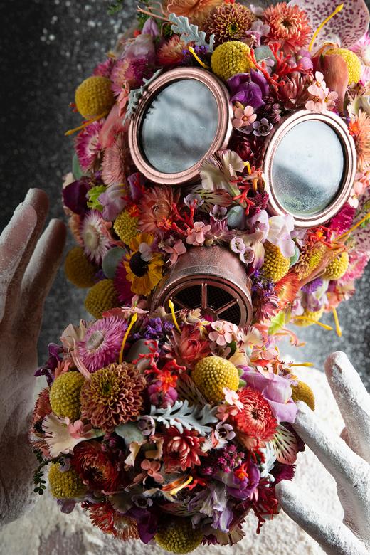 mask - vrij werk shoot, door corona is deze ook internationaal opgepikt.