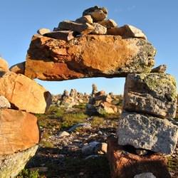Stapel stenen op Nipfjället