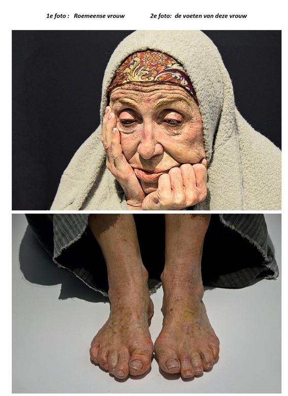 2) Hyperrealisme Sculptuur(  Roemeense vrouw - Voeten van deze vrouw)