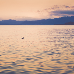 Uitzicht over het Noord Italiaanse Gardameer