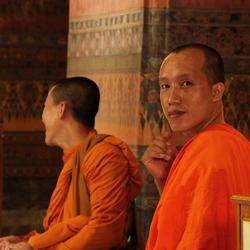 Gevangen blik in Bangkok