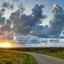 Prachtige wolkenlucht boven natuurgebied de Hors op Texel.