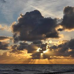 Zonsondergang op 22 september - Texel