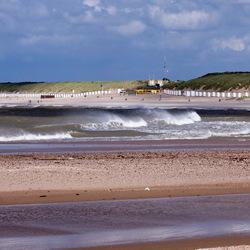 Storm aan de kust van Zeeuws-Vlaanderen