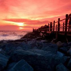 Miri seaside sunset