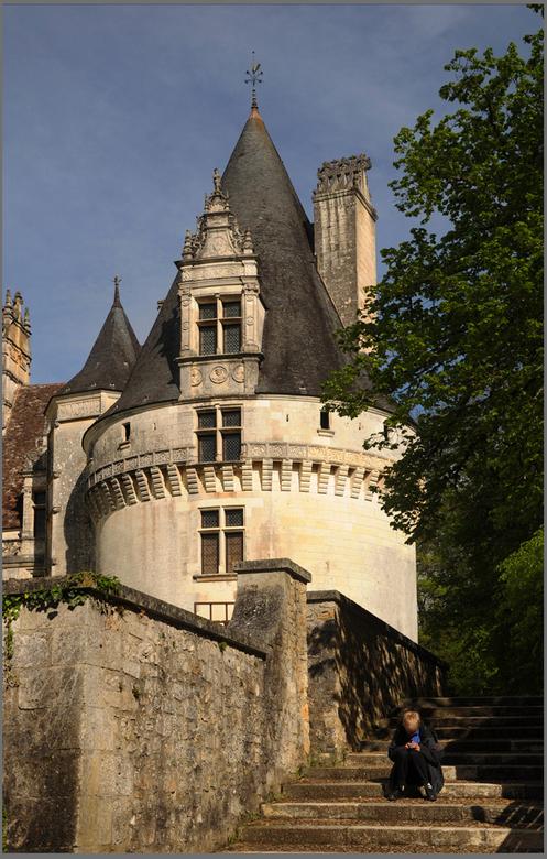 donjon van renaissance kasteel  - chateau Puyguilhem dep Dordogne
