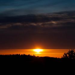 vulkaanas zonsondergang