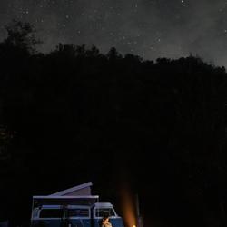 Camperen onder de sterrenhemel