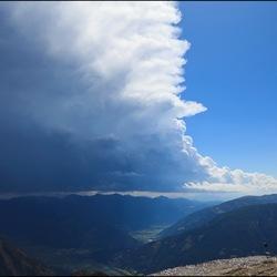 Blue sky after a thunderstorm