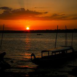 Sunset op de Marowijne