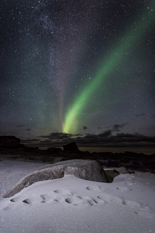 Northern Lights over Uttakleiv Beach