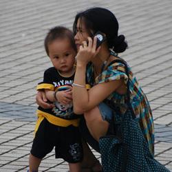 Chinese dame met haar kind