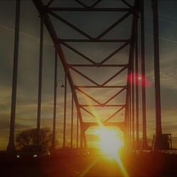 De zon gaat onder.....