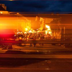 Voorbij razende trein Zell am See