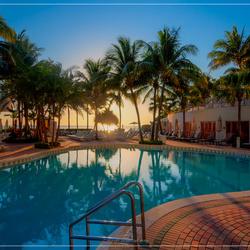 Miami pool at sunrise