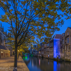 Historical Dordrecht in the Blue Hour