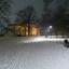 Villa Sonsbeek bij winternacht