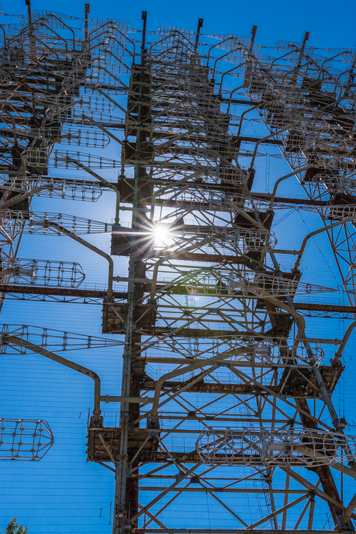Zonneradar - De 'Russian Woodpecker'. Een radarinstallatie van de russen die tijdens de koude oorlog werd gebruikt om intercontinentale kern
