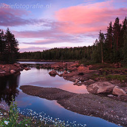 Sunset in June . . . .Varmland, Sweden.