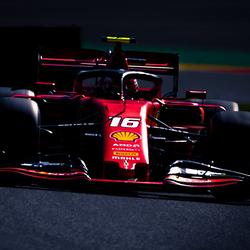 Charles Leclerc tijdens de formule 1 gp van België