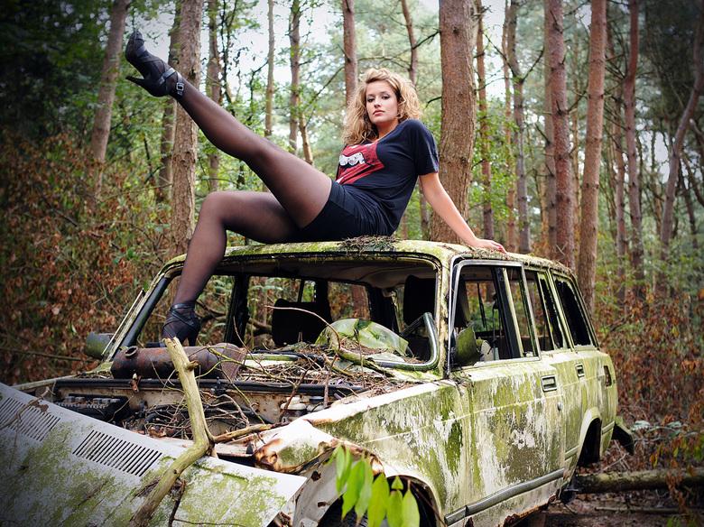 Anne-Claire op autowrak