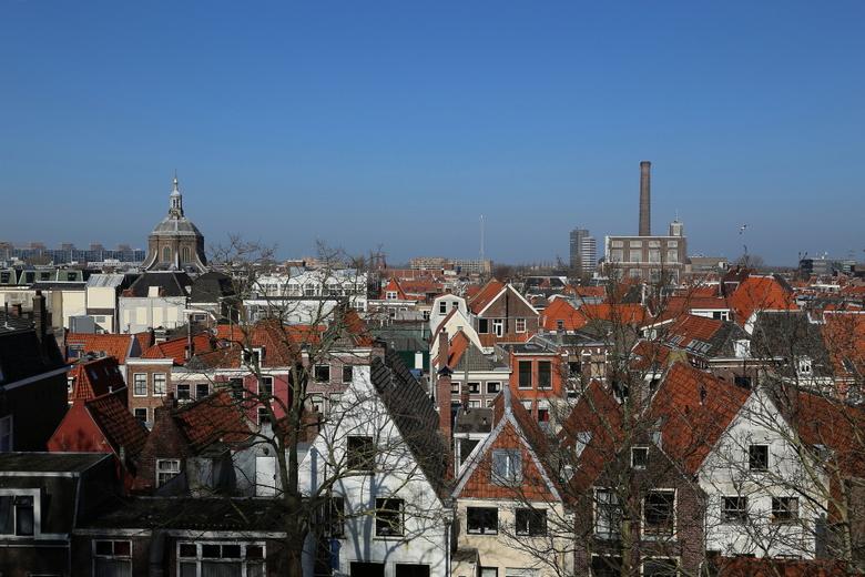 De stad - Pracht overzicht foto van Leiden met redelijk veel diepte.
