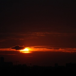 zonsondergang Diemen 22-09-2008