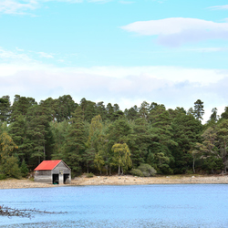 Loch Vaa and the Boathouse