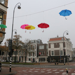 luchtige paraplu's
