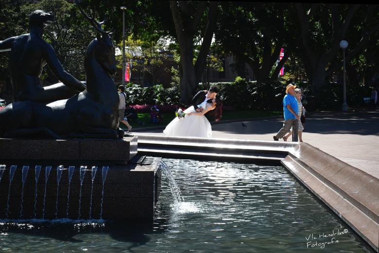 Kijk voor je uit Jaap! - Veel pracht en praal bij de bruidsparen gezien in Sydney