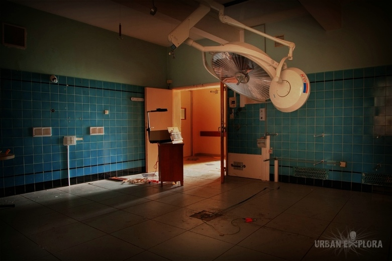 Operatiekamer verlaten ziekenhuis HDR