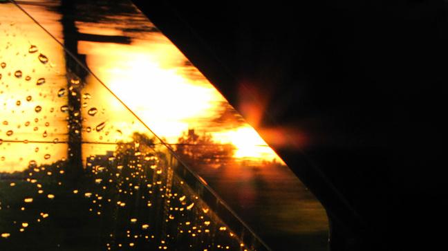 Sunlight  - mooi avond licht gemaakt vanuit de auto