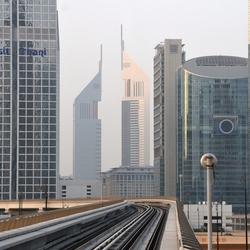 Dubai vanuit de metro