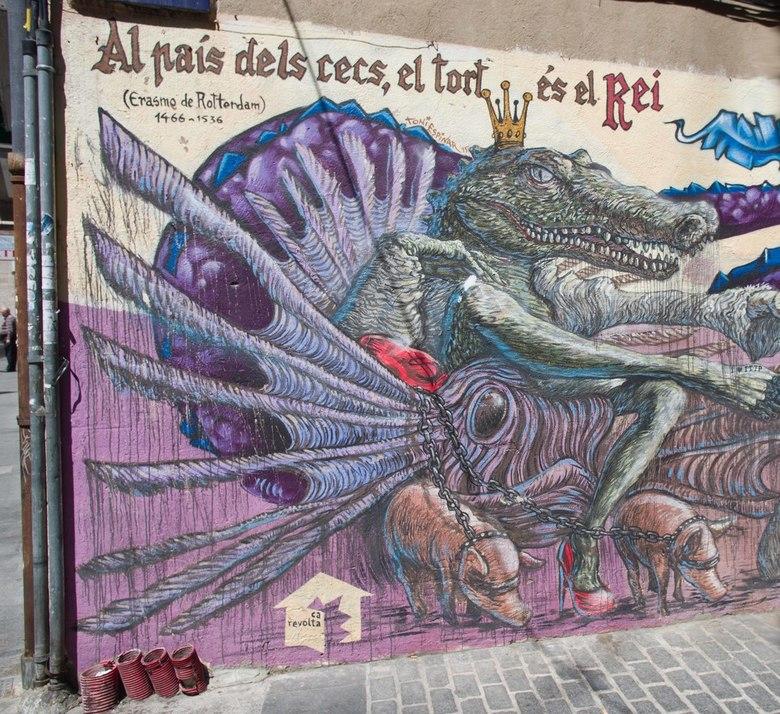 Art - street art of graffiti, wat je wilt, ook in een stad als Valencia, vooral in de oude stad zie je heel veel van dit soort kunstwerken.<br /> <br