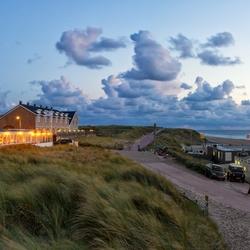 Zonsondergang boven het strand van de Koog op Texel.