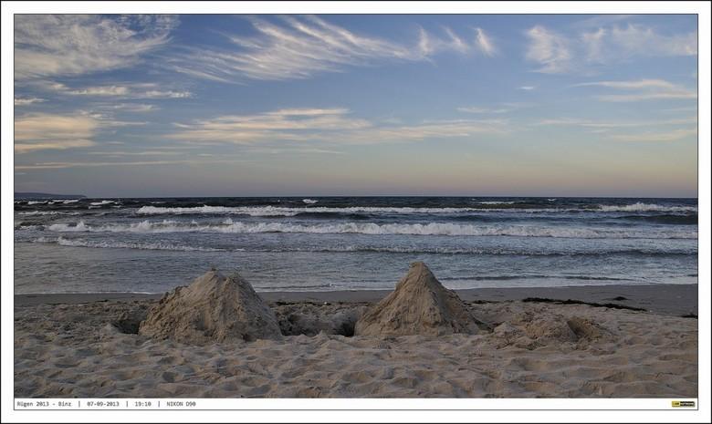 Strandpret - Begin september een aantal dagen op Rugen.<br /> Het strand bij de mondaine Oostzee Badplaats Binz, lag er er in combinatie met een gewe