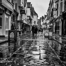 York in de regen