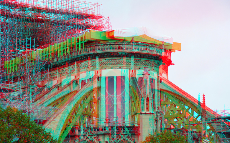 Notre-Dame Paris september 2019 3D - Notre-Dame Paris september 2019 3D<br />