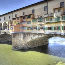 Ponte Veggio in Florence, Italië in HDR