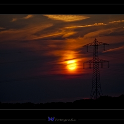 Zonsondergang bij mast